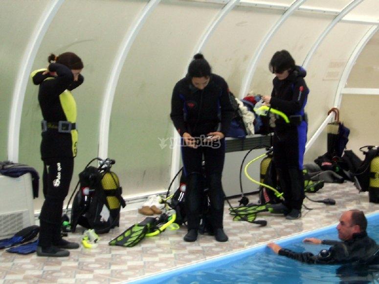 bautizo en piscina