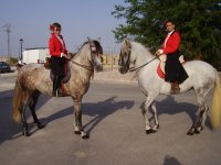 Riders on their horses