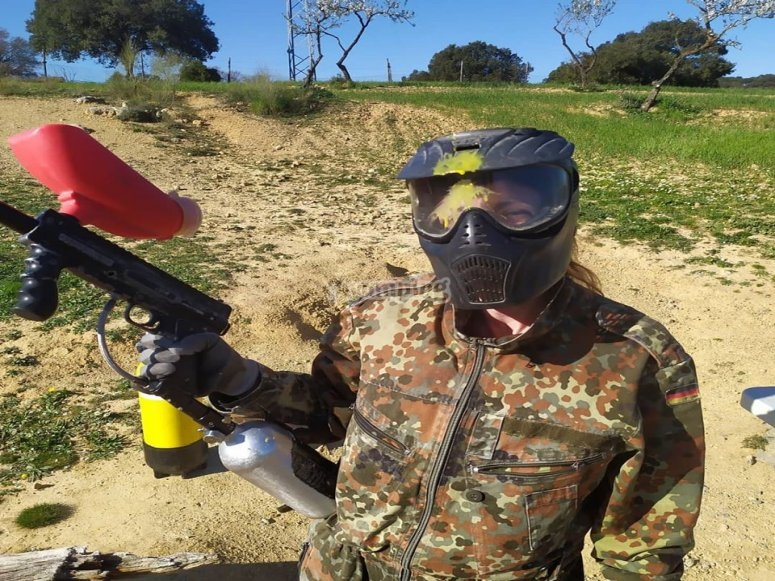 Paintball game in Antequera