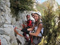 Via ferrata in group