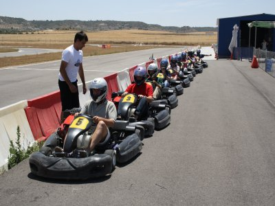 Series of karting in Ocaña. 10 mins