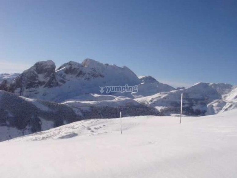 Un paisaje nevado