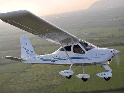 Flight in ultralight for beginners in Alcocer, 1h