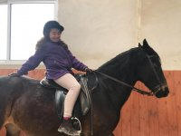 Posando sobre el caballo