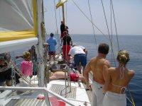 Viendo el mar desde el velero