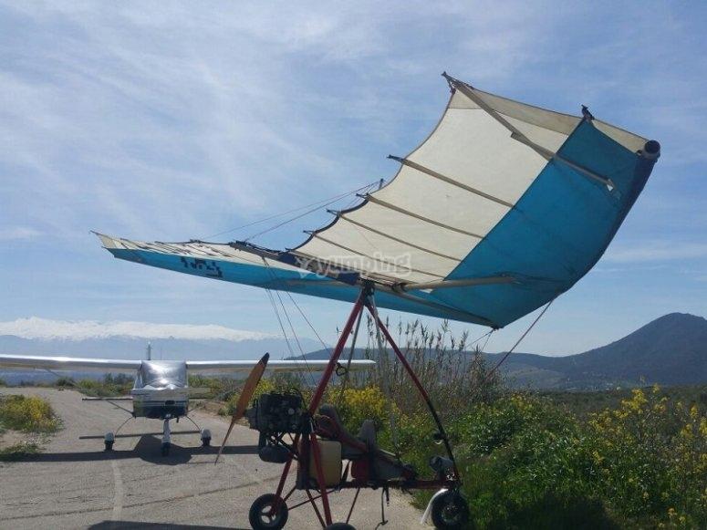 Fly an ultralight in Atarfe