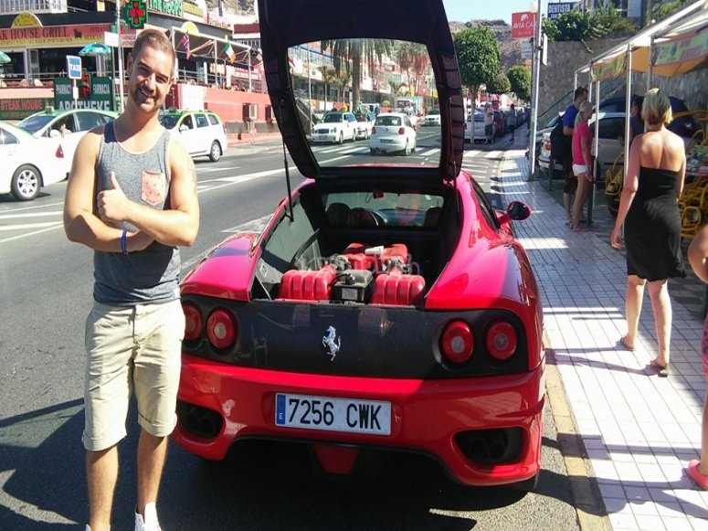 Motor del Ferrari