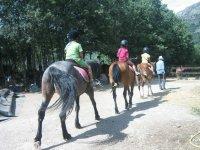 Salimos con los caballos