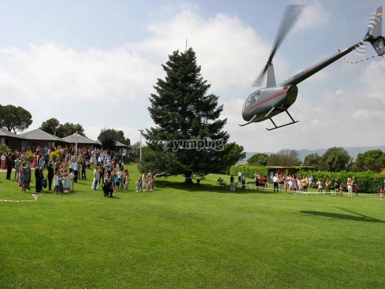 Experiencia en helicoptero