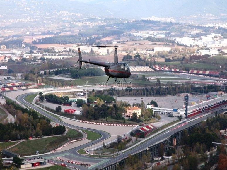 Helicoptero sobre Montmelo