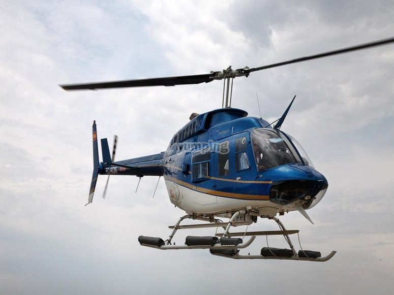 Sesion en helicoptero