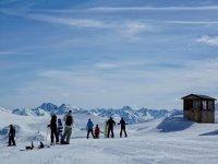 旅行位于Grand Valira雪鞋踏雪