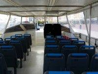 Plazas interiores del barco