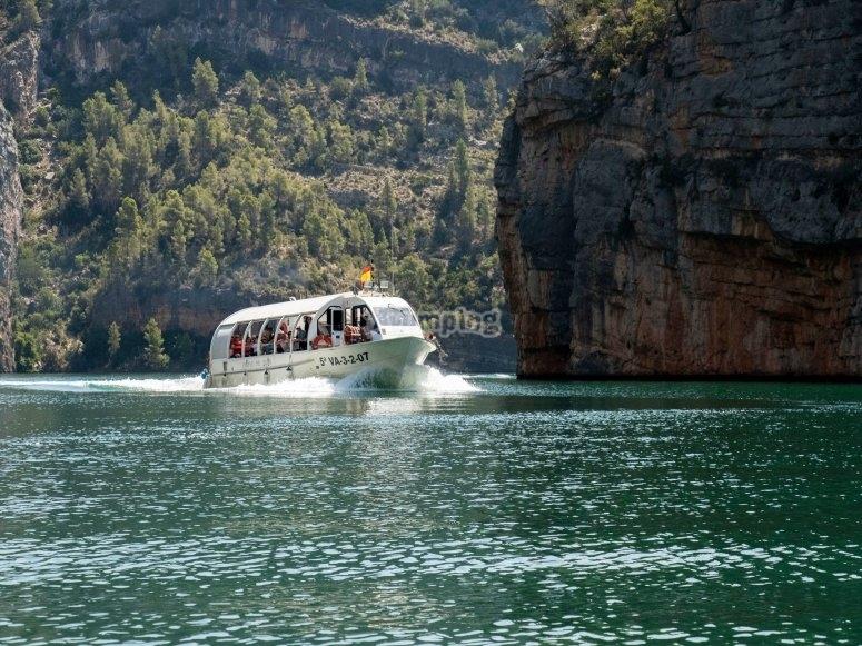 Tour fluvial en barco río Júcar