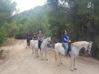 Horse riding through the Valencian mountain