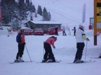 Practice mountain skiing in Andorra