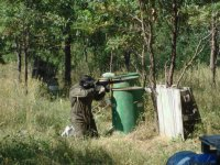 Shooting in paintball