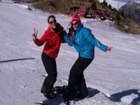 Esquiando en las pistas de Cerler