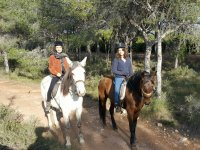 Horseback riding to the Calderona mountain range