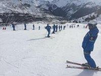 Training as skiers in Formigal