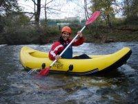 Camminare in canoa