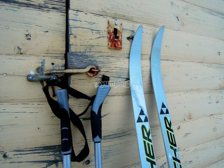 Esquís y bastones