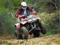 Conductor de moto quad