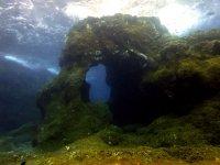 Arco en el fondo del mar