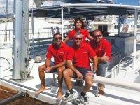 Crew catamaran Adeje