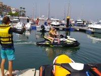 Zarpando en Marina Isla Canela