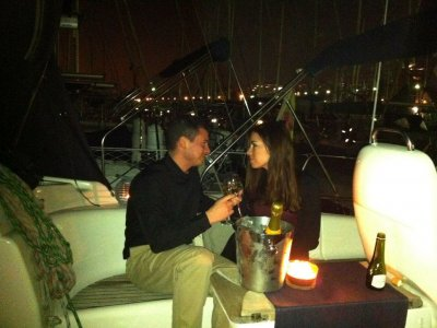 Noche, cena y desayuno de lujo en barco, parejas