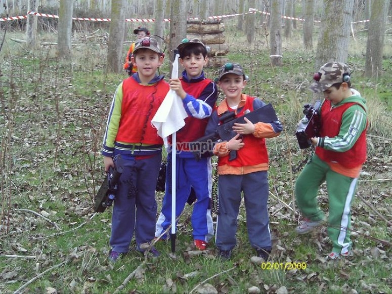 Small laser tag group