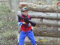 Kid playing laser tag
