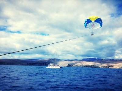 Blue Spirit Catamarán Parascending