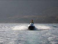 Acelerando la moto nautica en Fuerteventura