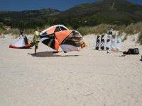 preparazione della classe di kitesurf