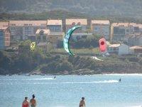 attraversamento del kitesurf
