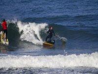 paddle surf con grande onda