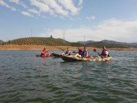 Navegando en grupo en el pantano