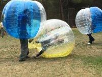 Fun falls inside the giant bubbles