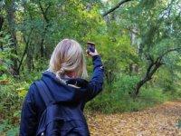 Tomando una foto durante la ruta