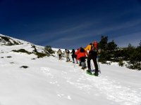 Snowshoeing in the Sierra de Madrid