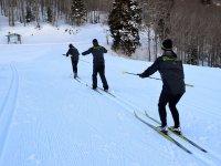 cross-country skiing class