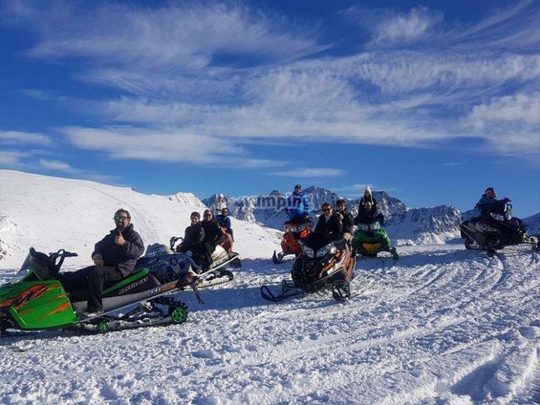 Ruta de motos de nieve