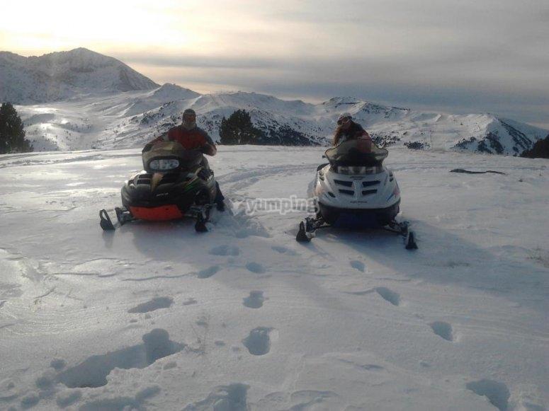 Conduccion moto de nieve