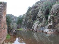 la montana y el rio