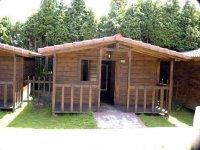 Fachada de la cabana