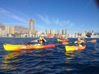 Rutas en kayak en el Mediterráneo