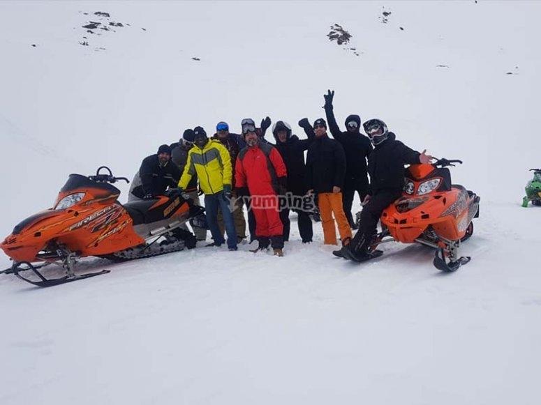 Compartiendo con los nuestros una salida con motos de nieve