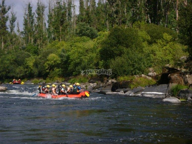 Rafting en paisajes increibles